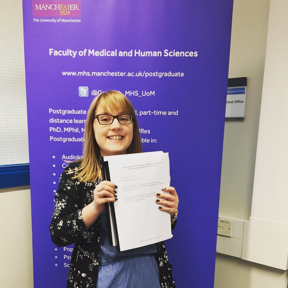 Would you like to congratulate me on finishing my dissertation and handing it in?