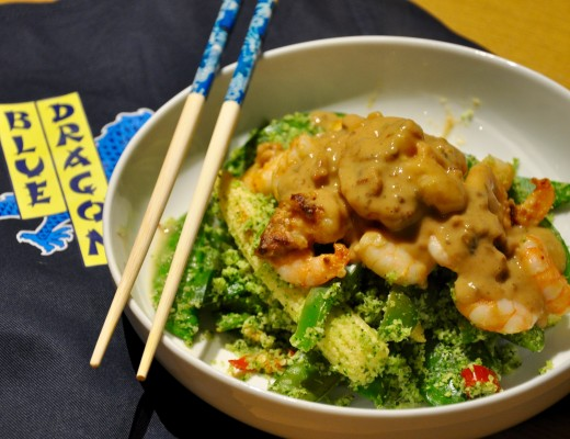 Satay-Prawns-Broccoli-Rice