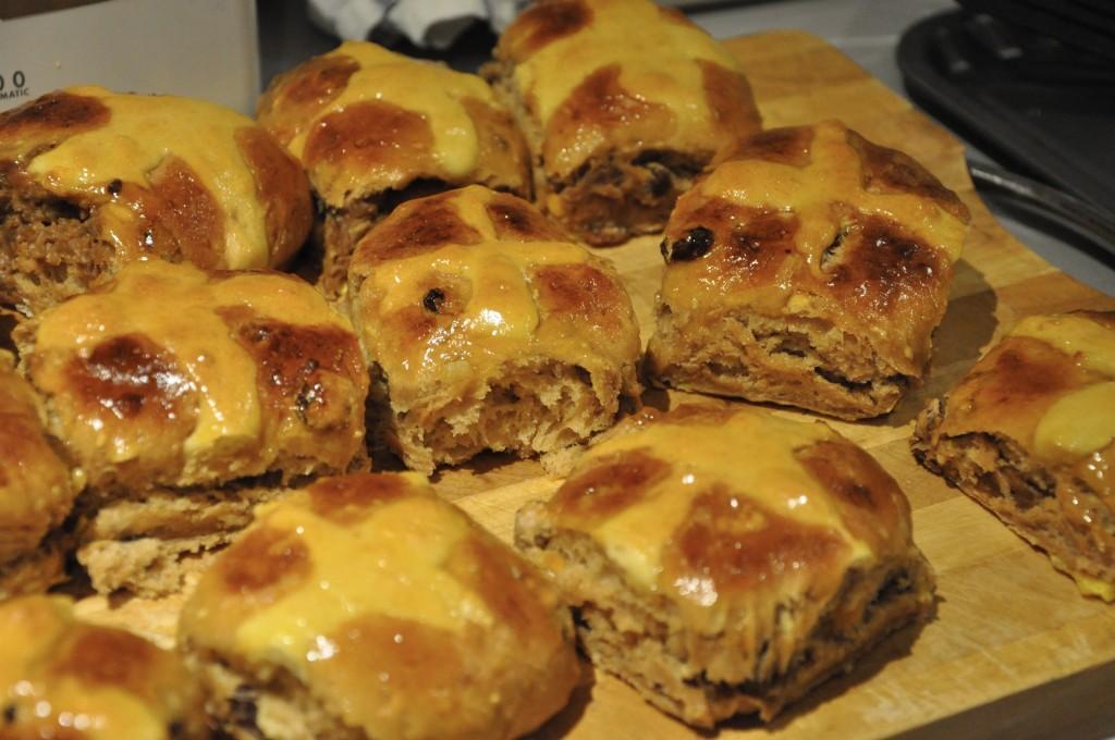Dulche De Leche and Chestnut Puree Hot Cross Buns