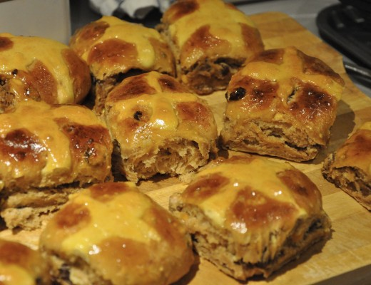 Dulche De Leche and Chestnut Puree Hot Cross Buns