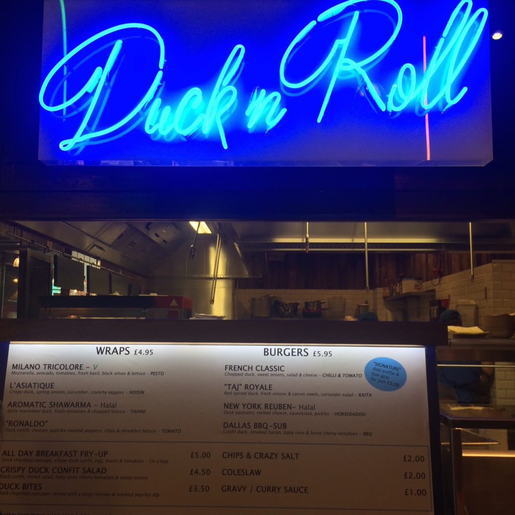 Duck n Roll Leeds Trinity Kitchen