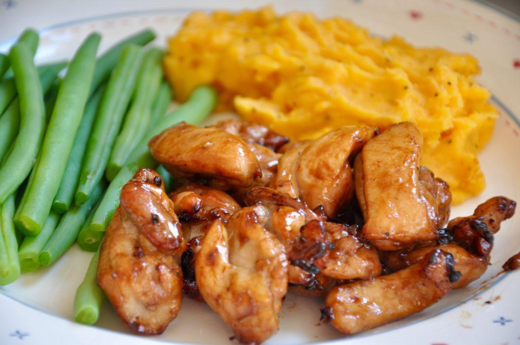 Honey Glazed Chicken And Sweet Potato Mash Recipe