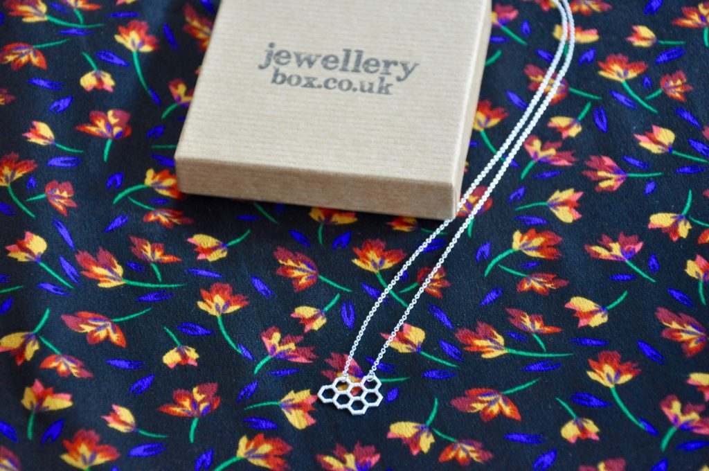 Jewellery Box Honeycomb Silver Necklace