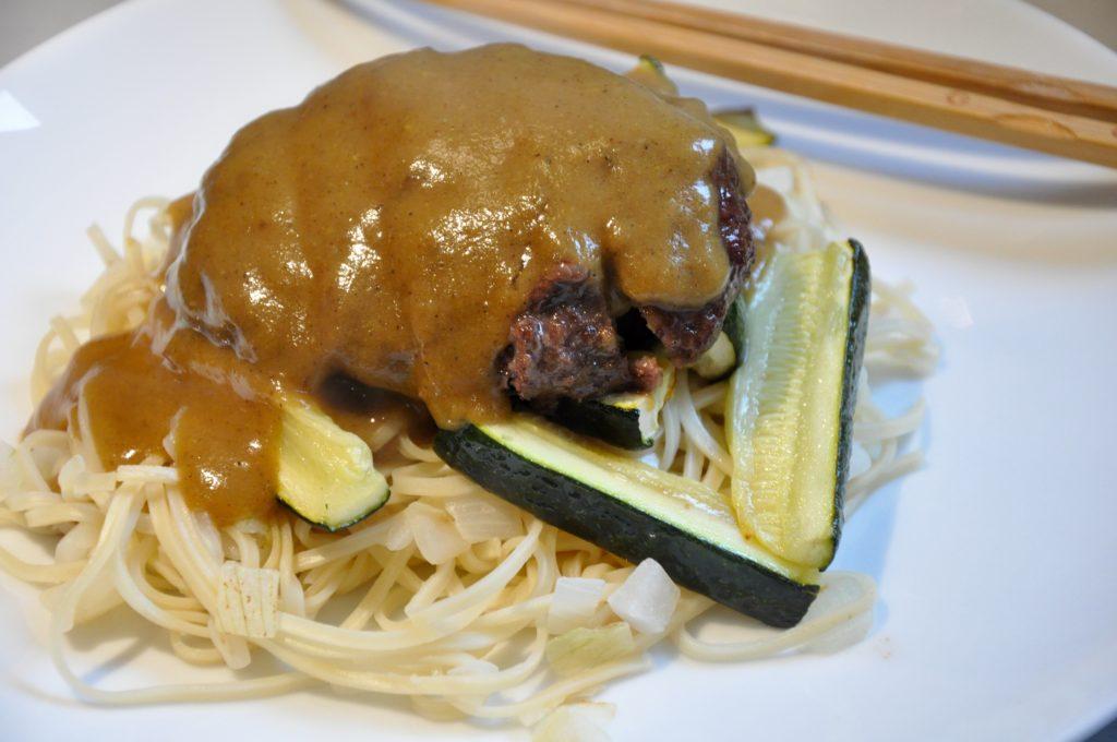 Katsu Wagyu Burgers and Crispy Noodles | Recipe