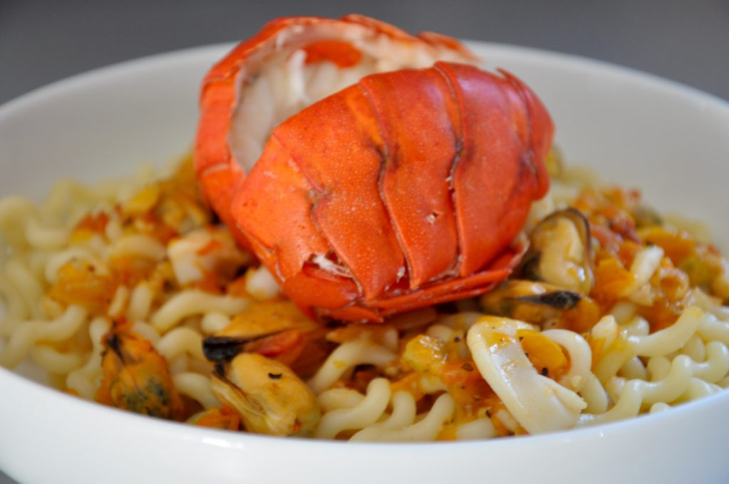 Lobster Tails and Seafood Pasta Recipe
