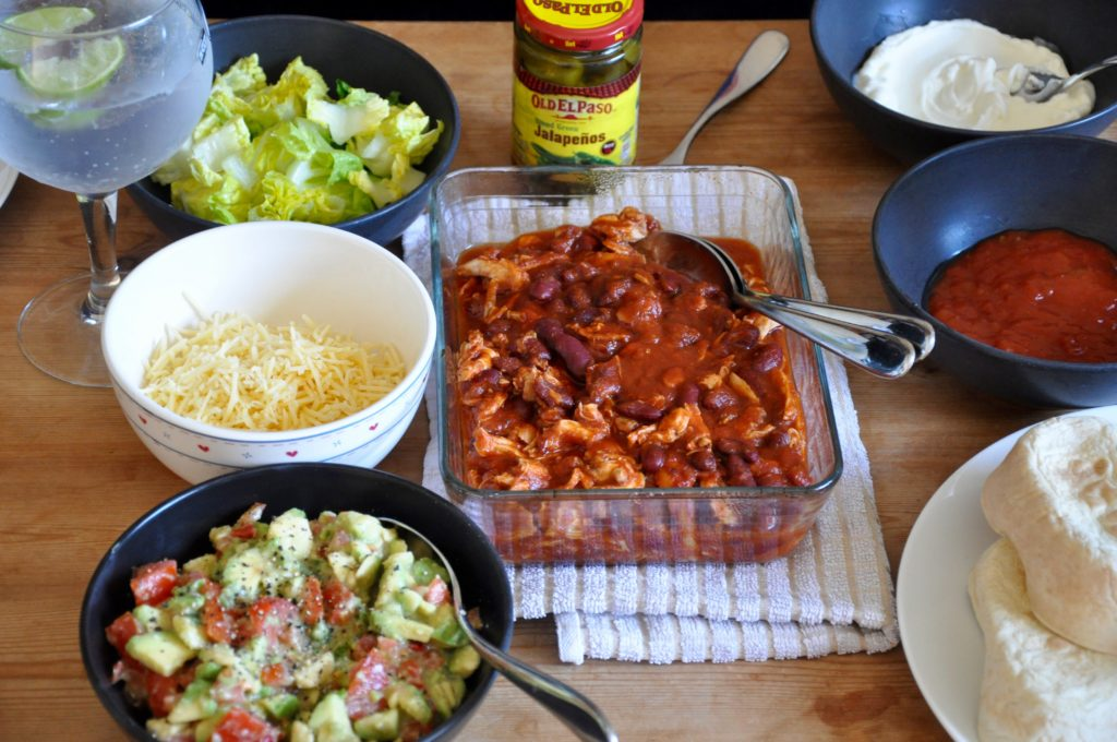 Pulled Chicken and Spicy Guacomole Recipe