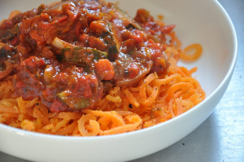 Roasted Pepper and Carrot Spaghetti