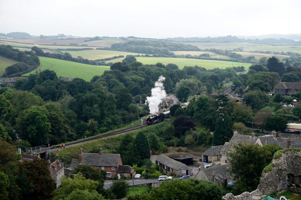 from-corfe-to-swanage-via-harrys-rocks-steam-train