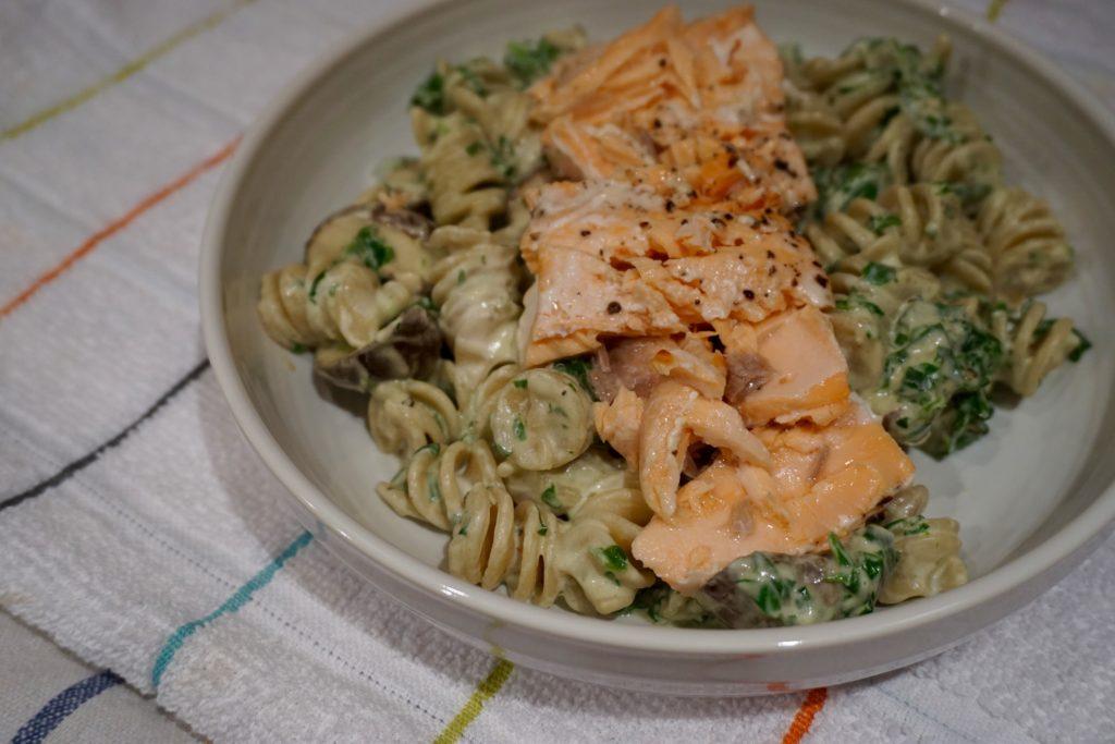 Creamy Spinach And Salmon Pasta Recipe