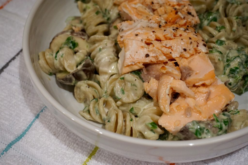 creamy salmon pasta salad recipe