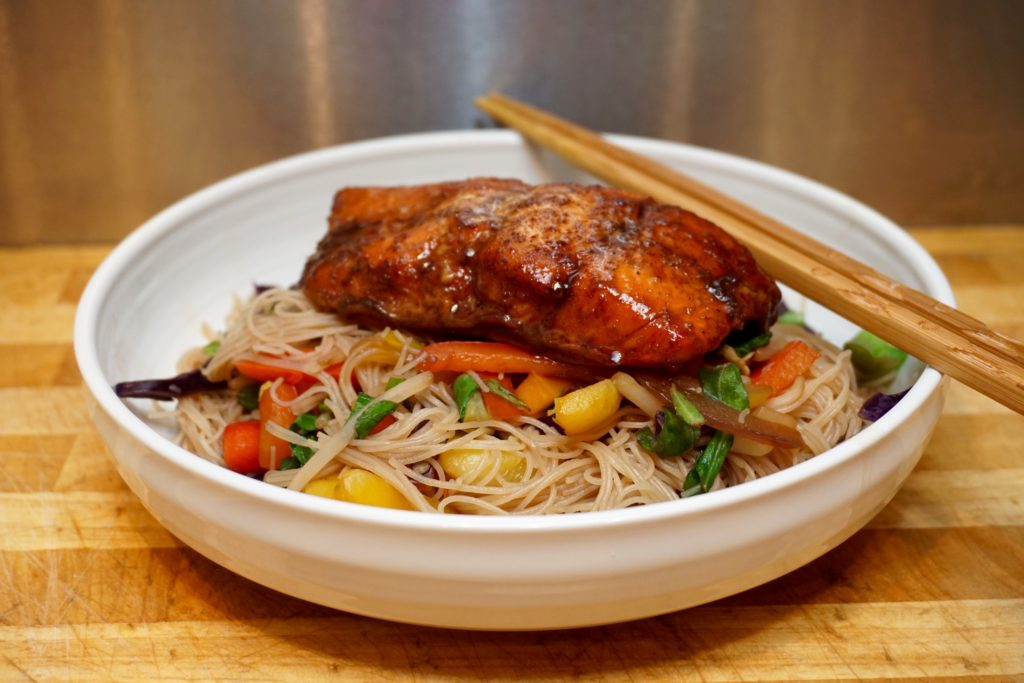 No Fuss Salmon Stir Fry with Five Spice