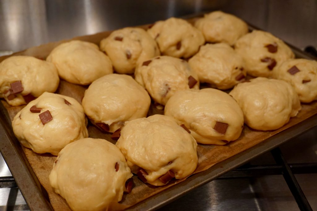 Baking - Salted Caramel Hot Cross Buns