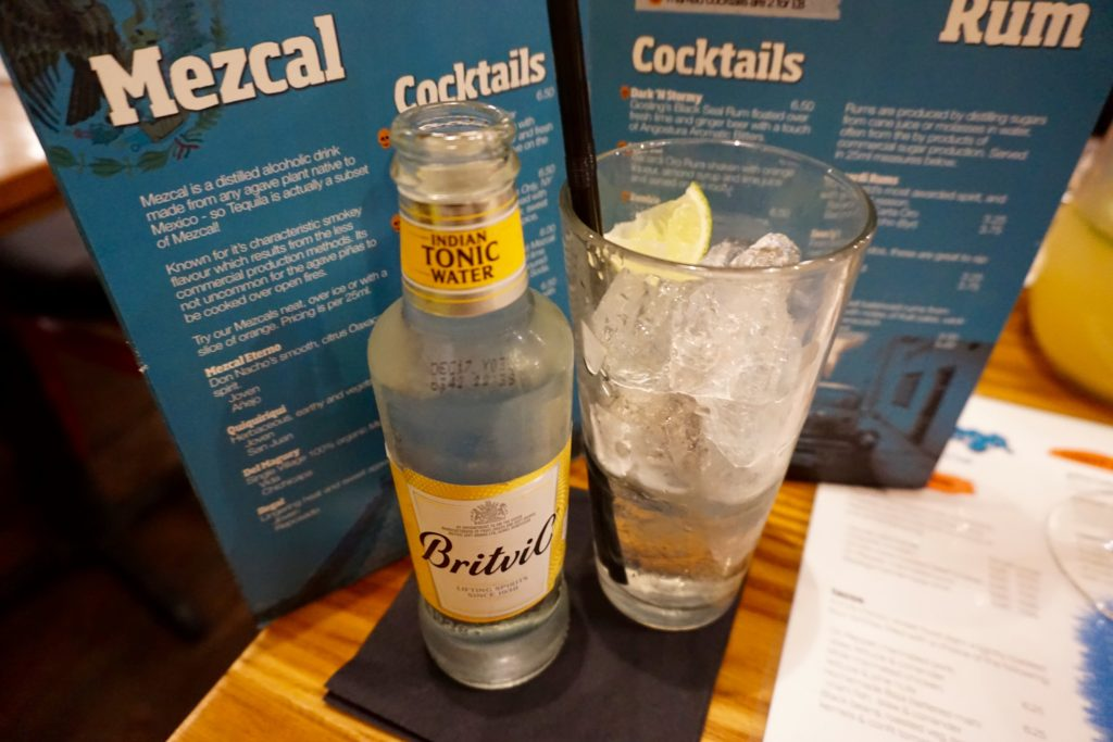 Menu Preview at Bodegea Worcester - Mezcal Gin and Tonic