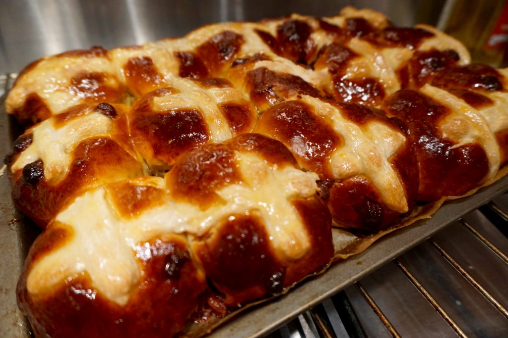 Salted Caramel Hot Cross Buns Recipe