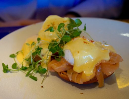 Brunch at Le Pont de la Tour London - Eggs Royale