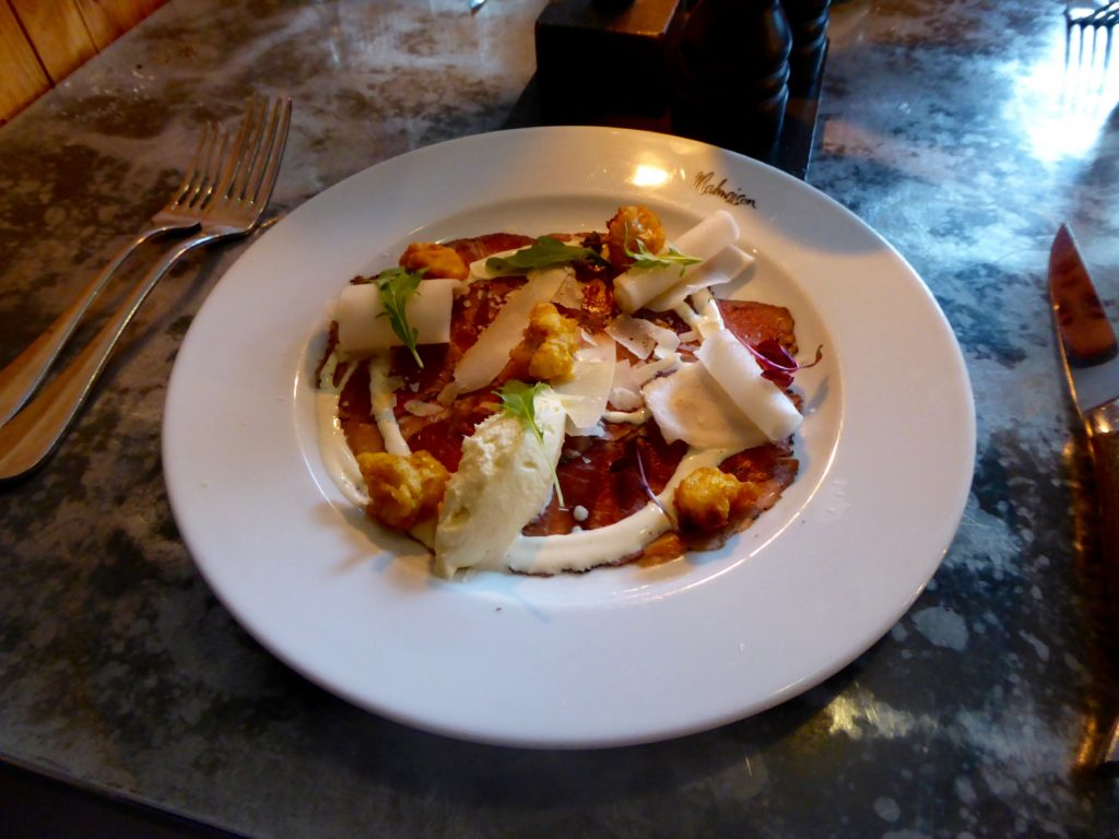 Malmaison Manchester Review - carpaccio