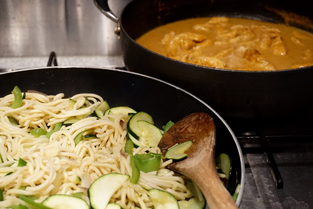 Spicy Thai Satay Chicken with Veggie Noodles