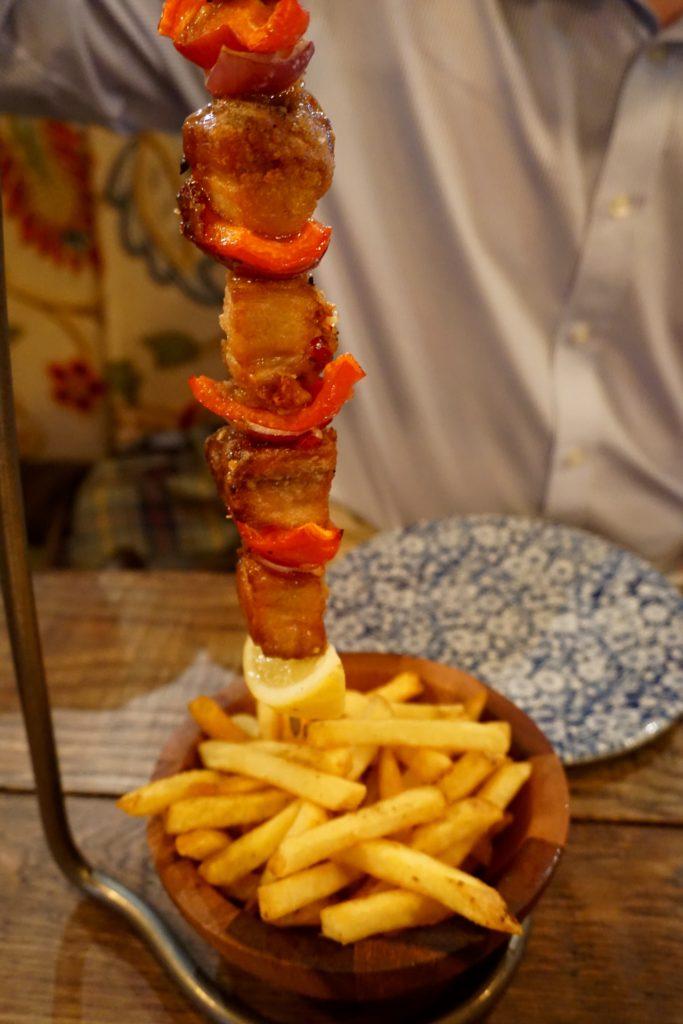 The Botanist Birmingham - Salt and Pepper Pork Belly Kebab