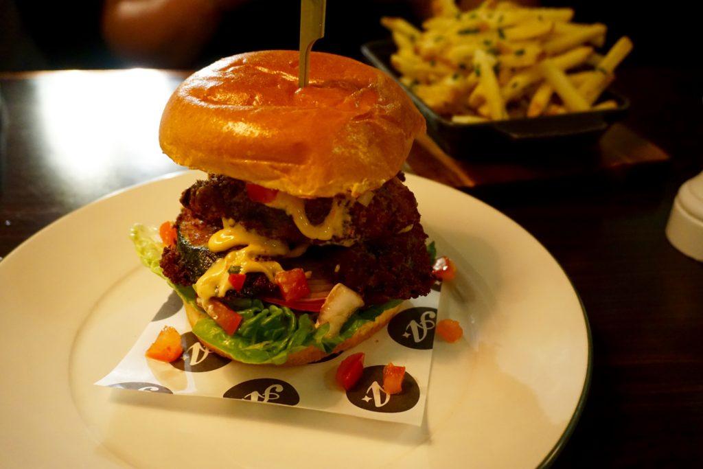 All Star Lanes Manchester - Zuccado Veggie Burger