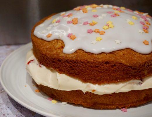 Strawberries and Cream Birthday Cake Recipe