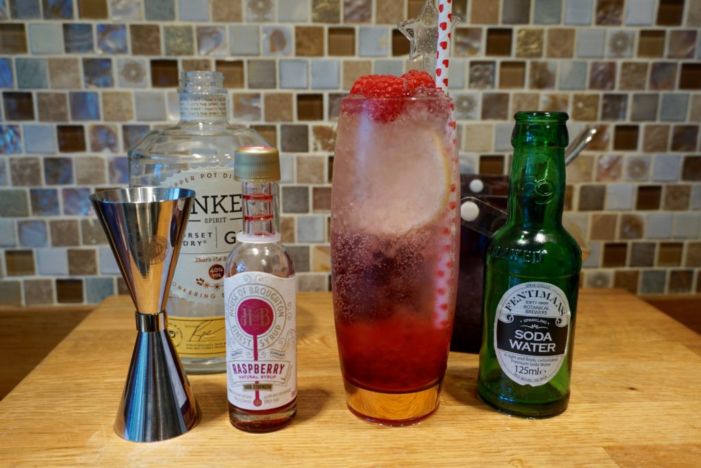 Fentimans Soda Water and Raspberry HOB Syrups