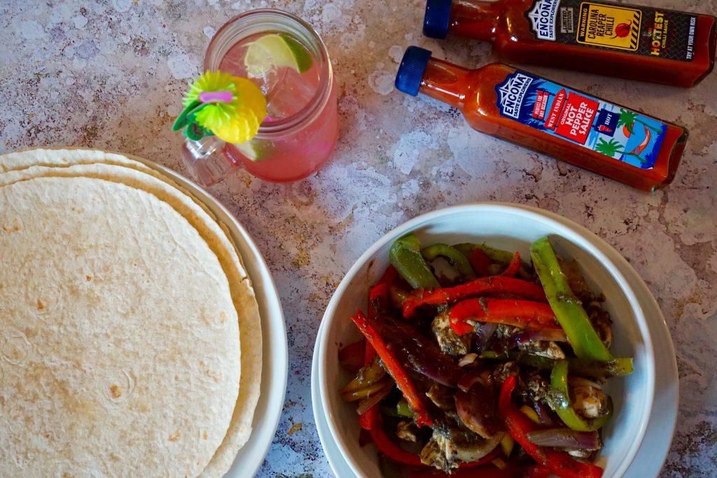 Caribbean Food Week - Jerk Chicken Wraps