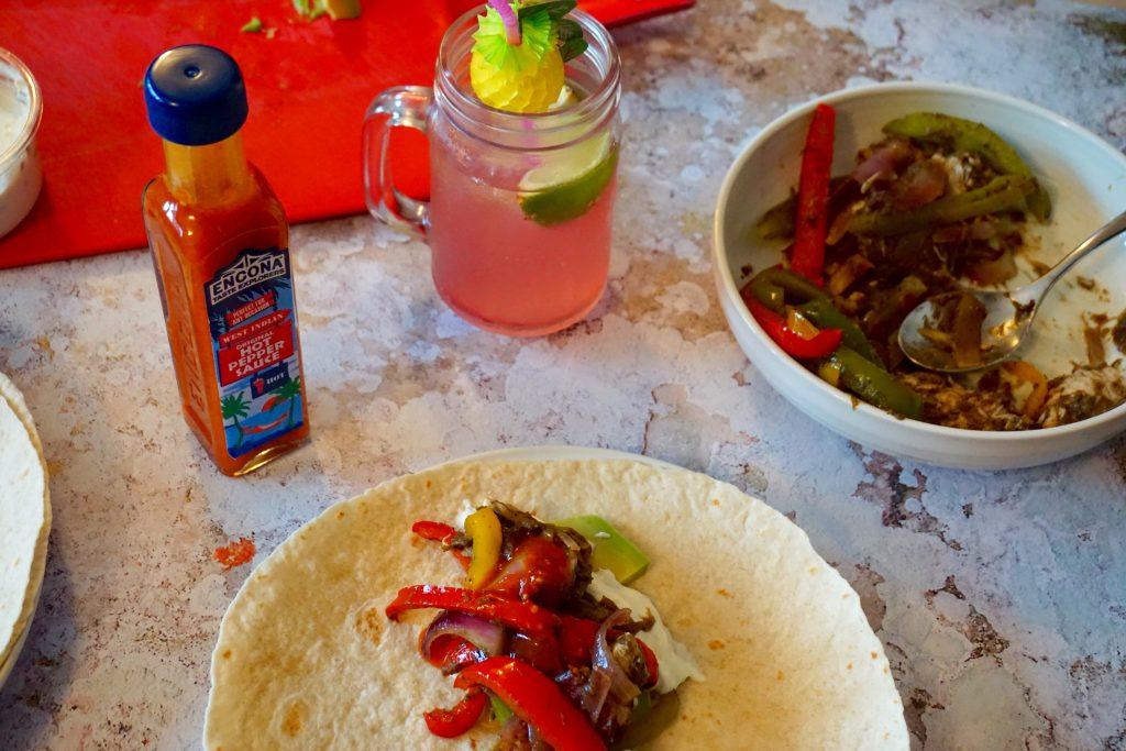 Caribbean Food Week - Spicy Jerk Chicken Wraps
