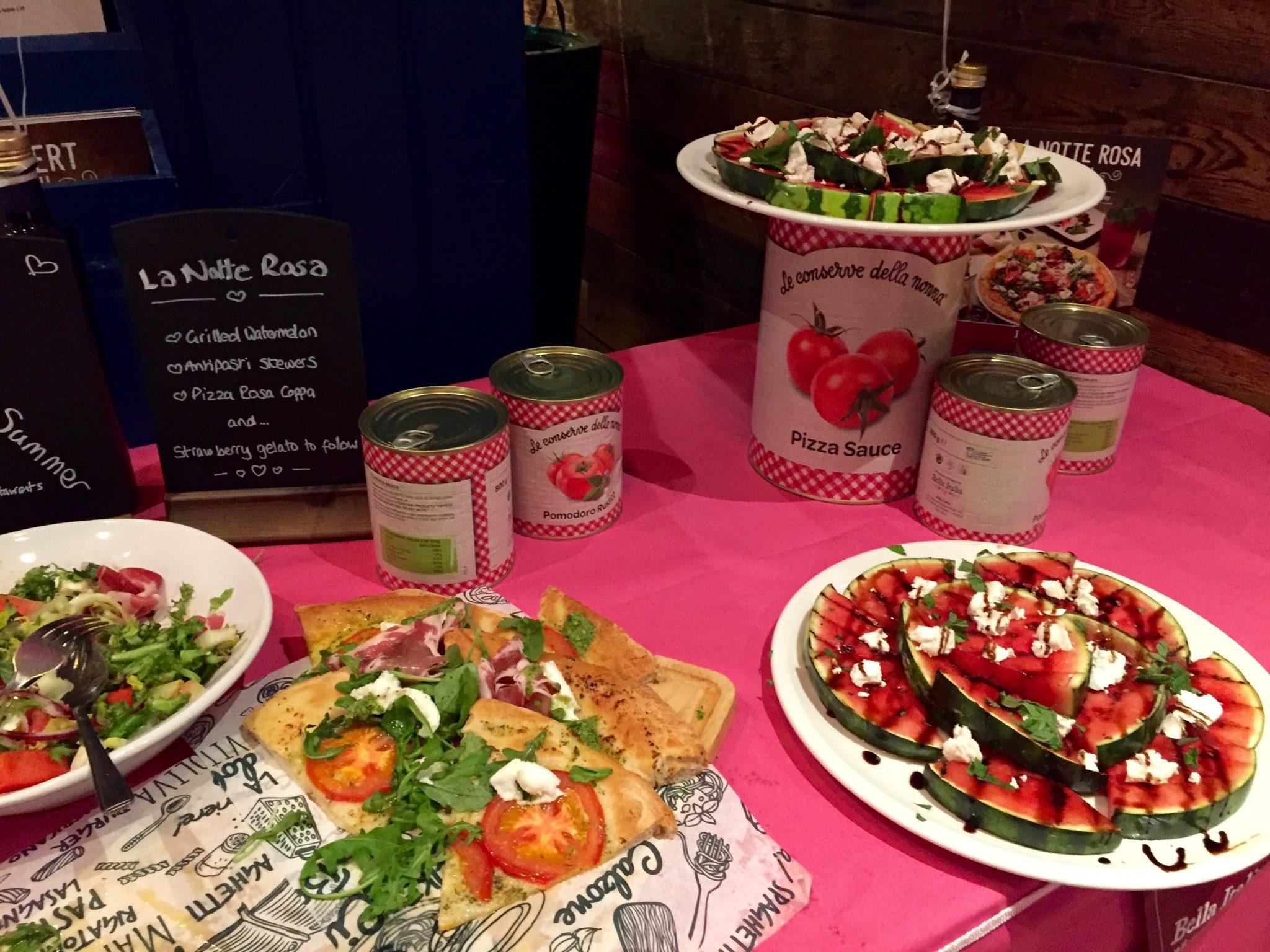 Celebrating La Notte Rosa With Bella Italia Manchester
