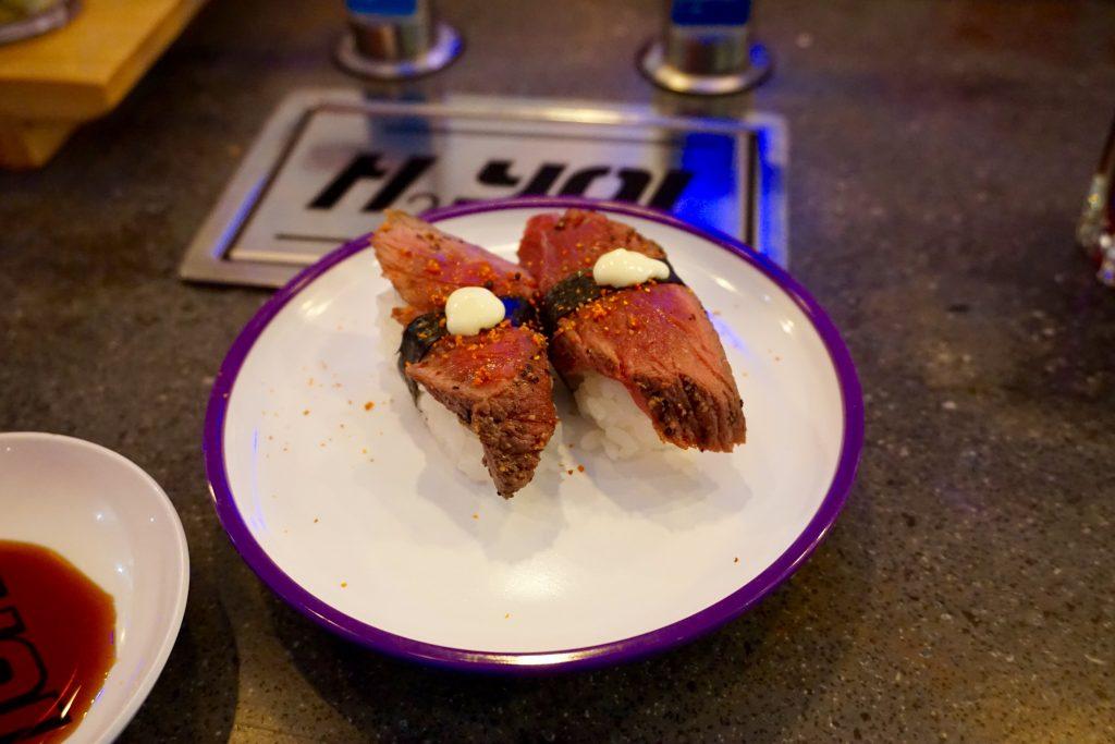 YO Sushi Worcester Beef Nigiri