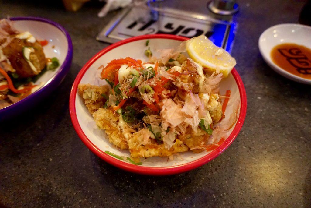 YO Sushi Worcester Osaka Style Squid