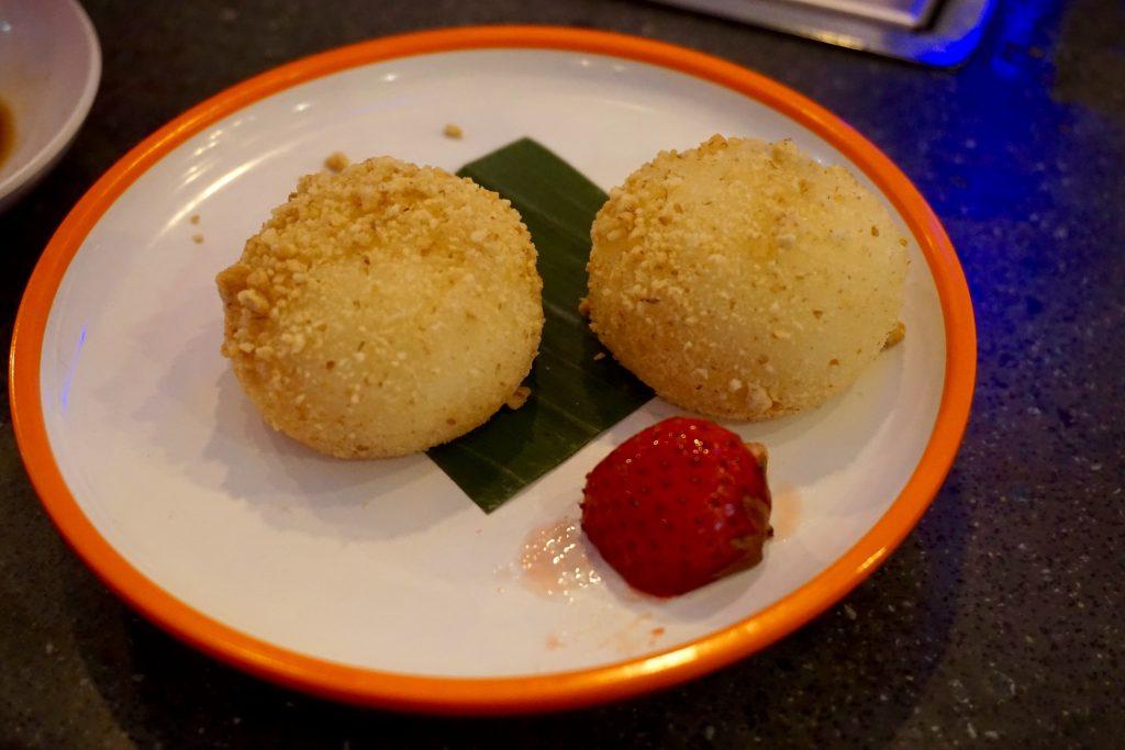 YO Sushi Worcester Vanilla Rice Balls