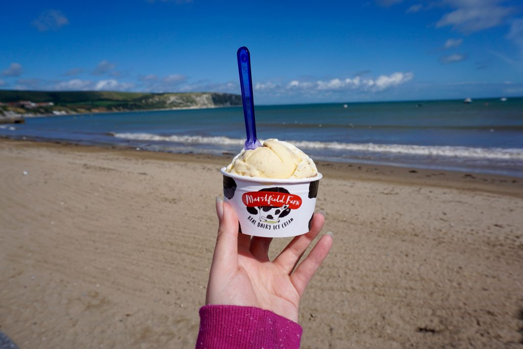 Dorset Holiday - Ice cream at Swanage