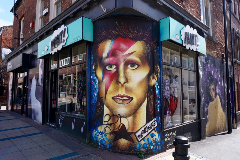 Exploring Sheffield - David Bowie Division St