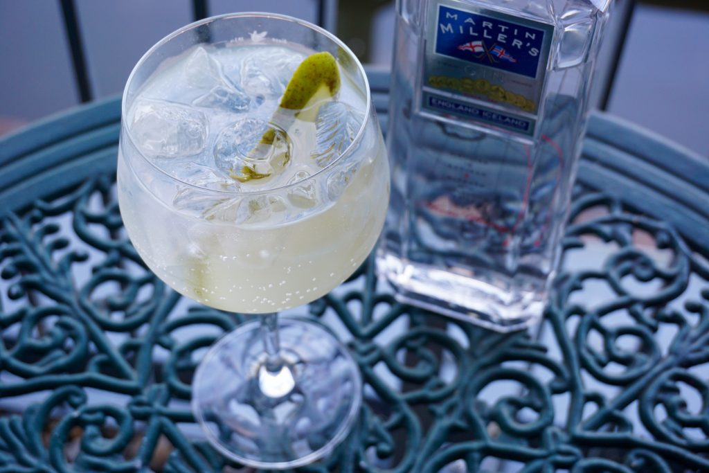 Summer Pear Cocktail with Martin Miller's Gin