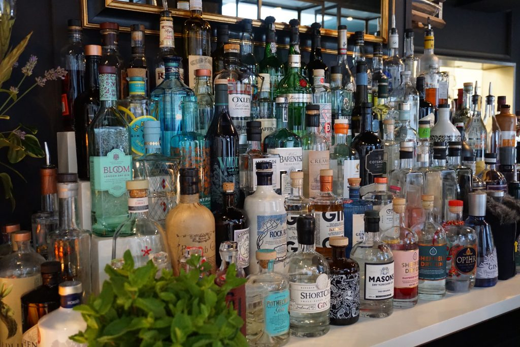 Trippets Lounge Bar Sheffield Gin Collection