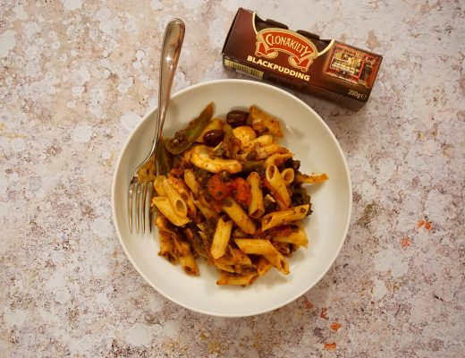 Black Pudding Pasta Recipe with Clonakilty