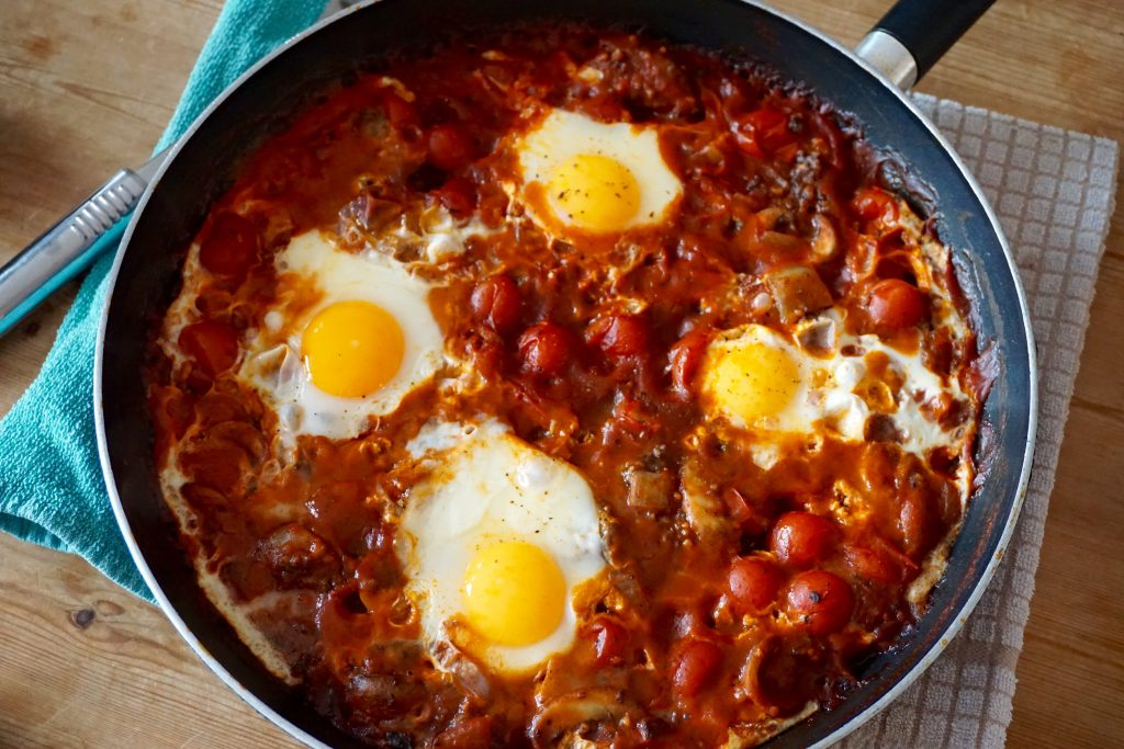 Tasty and Delicious Black Pudding Baked Eggs | Recipe