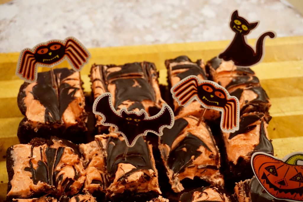 Vegan Spider Web Tray Bake Halloween Recipe