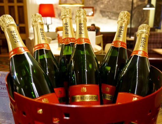 5 Happy Things - Bucket of Piper Heidsdeck Champagne Bottles