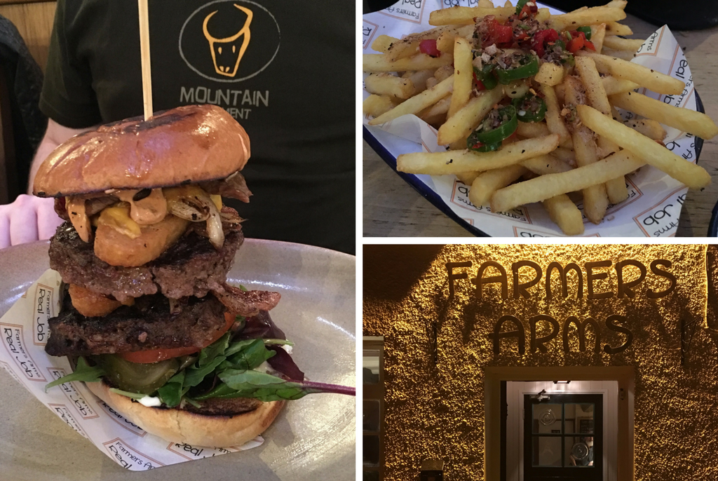 5 Happy Things - Epic Burger and Fries at Farmers Arms Baycliff