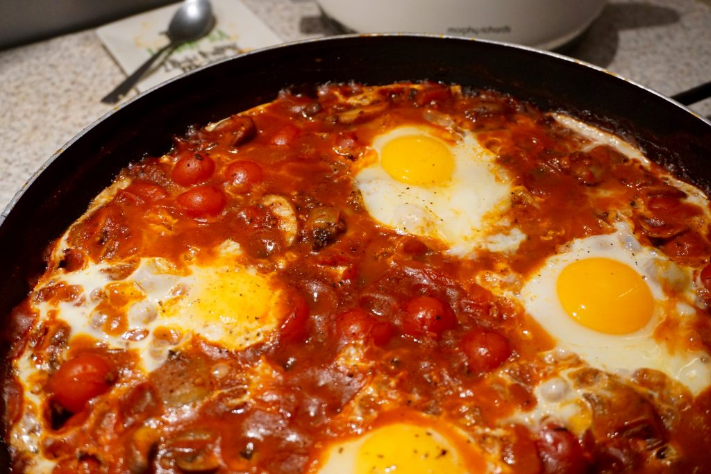 Black Pudding Baked Eggs Recipe
