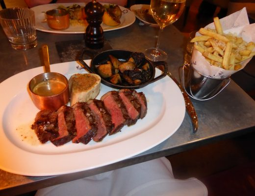 Chez Mal Malmaison Manchester Signature Steak with Peppercorn Sauce and Fries
