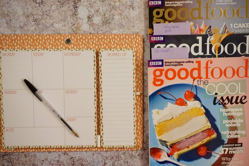 Good Food Magazine and Meal Planning - How to Enjoy a Restful Weekend Alone