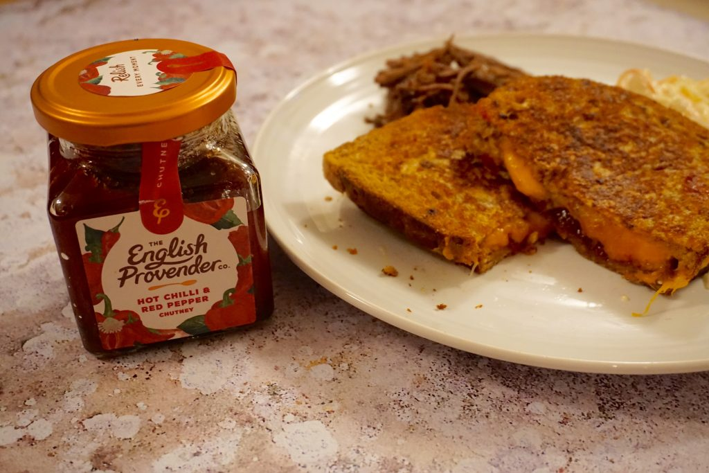 Grilled Cheese with Chilli Chutney