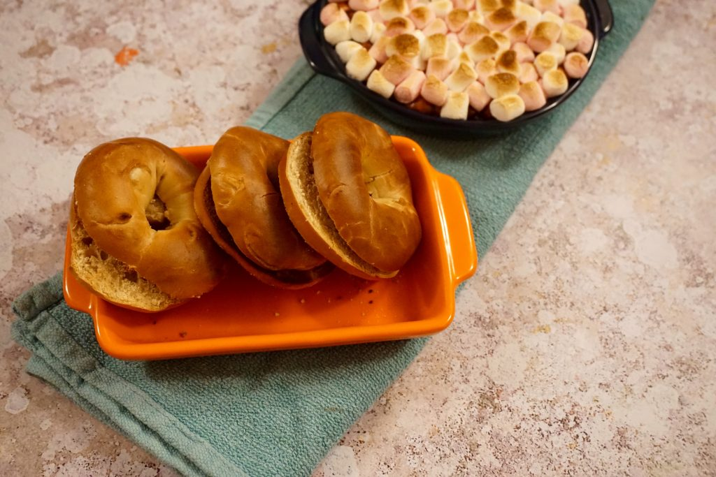 Maple Mini Bagels and S'mores Dip