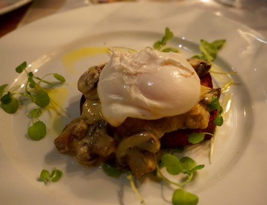 Trippets Sheffield Poached Egg on Garlic and Mushroom Toast