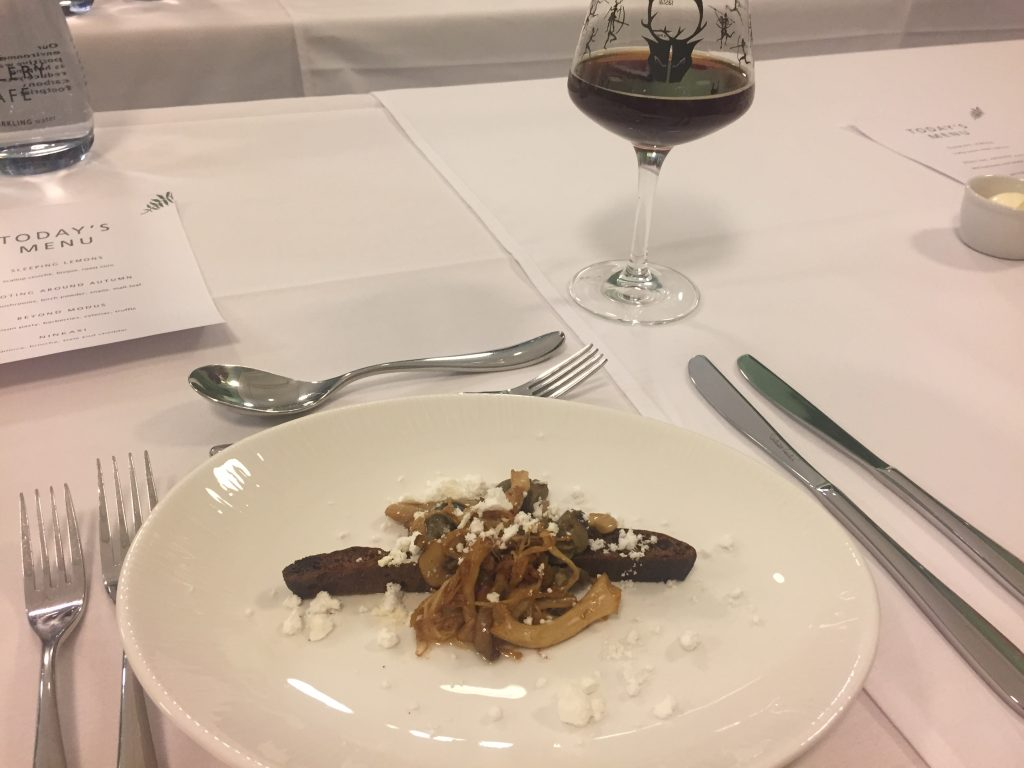 Wild Beer Co at Manchester Art Gallery Second Course Snails