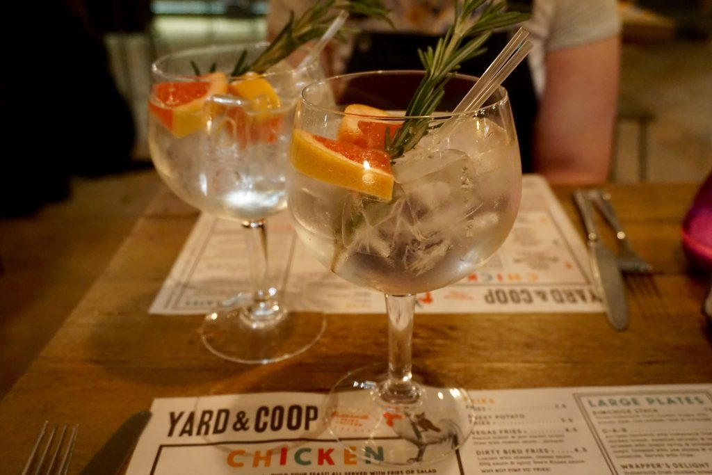 Yard and Coop Manchester - Two Large Gin and Tonics