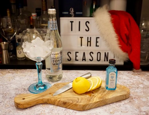 Christmas Gin Guide - Gin Copa full of ice ready for gin