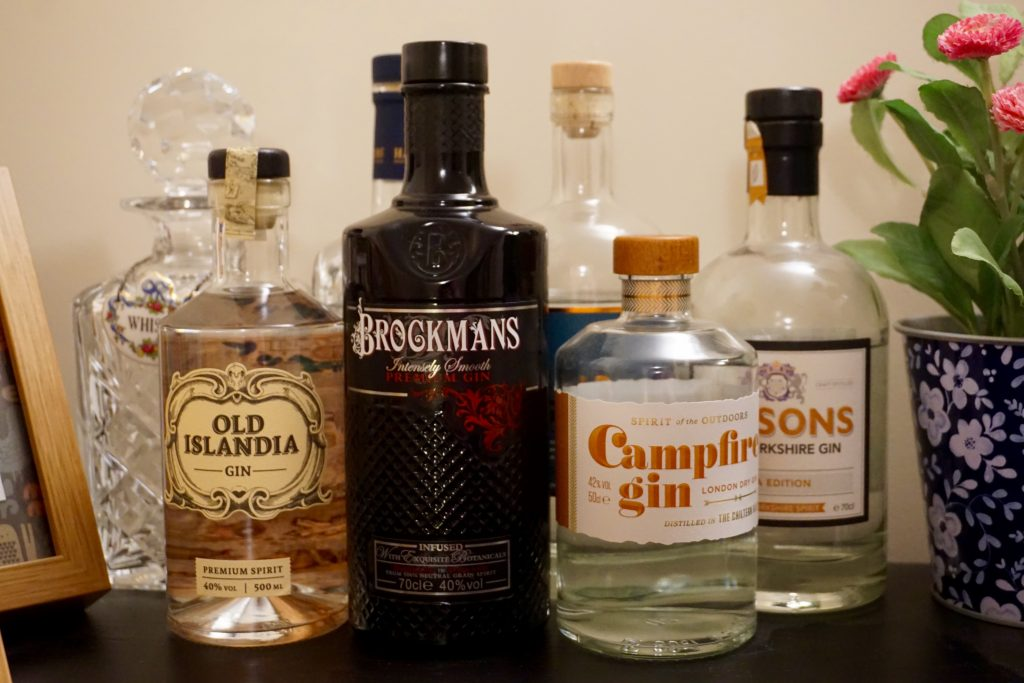 Christmas Gin Shelf